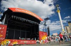 Euro 2012 in Kiew Lizenzfreie Stockbilder