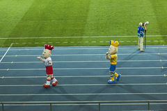 Euro 2012 mascots Royalty Free Stock Photos
