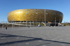 Euro 2012 new stadium in Gdansk, Poland. PGE Arena in Gdansk, newly built stadium for EUFA 2012 Football Championship in Poland, photo taken 05.04.2012 Royalty Free Stock Photo