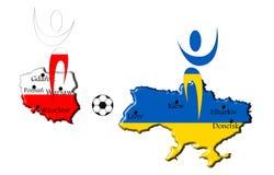 Euro 2012 players Stock Image