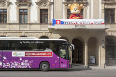 Euro 2012 - Poland. Hotel Monopol - the official Euro 2012 seat of the Czech team on June 7, 2012 in Wroclaw, Poland Stock Photography