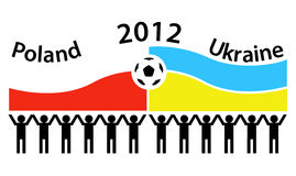 Euro 2012 - Poland and Ukraine. Football poster of Euro 2012 Poland and Ukraine. Vector illustration Royalty Free Stock Photography