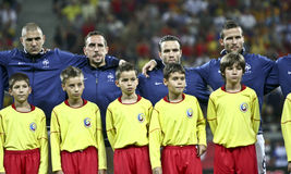 Euro 2012 Qualifying Round (Group D)Romania-France Stock Photo