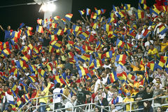 Euro 2012 Qualifying Round (Group D)Romania-France. Romanian fans in the football match between Romania and France in the Euro 2012 Qualifying Round (Group D) Stock Photography