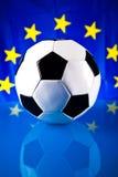 Euro 2012 and soccer ball. With european flag Stock Photos