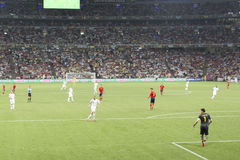EURO 2012. Spain vs. France Royalty Free Stock Photos