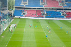 EURO 2012 - squadra di Paesi Bassi immagini stock libere da diritti