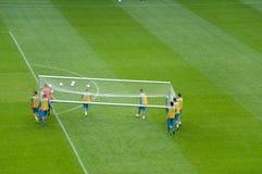 EURO 2012 - squadra di Paesi Bassi Immagini Stock