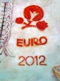 Euro 2012 symboles sur le salo, diversité de nourriture, Images stock