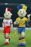 Euro 2012 talismãs Imagem de Stock Royalty Free