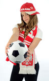 Euro 2012 teen girl fan Royalty Free Stock Photos