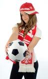Euro 2012 teen girl fan Royalty Free Stock Photos