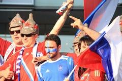 Euro 2012 ventilateurs Photos stock