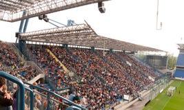 EURO 2012 - ventilateurs sur la formation Image libre de droits