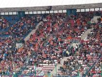 EURO 2012 - ventilatori sull'addestramento Fotografie Stock Libere da Diritti