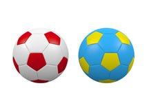Euro 2012 voetbalballen Stock Afbeeldingen