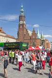 Euro 2012 - Wroclaw, Polen. Stockfotografie