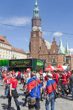 Euro 2012 - Wroclaw, Polen. Royalty-vrije Stock Afbeelding