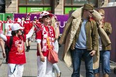 Euro 2012 - Wroclaw, Pologne. Photos libres de droits