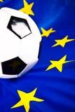 Euro 2012 y balón de fútbol Imágenes de archivo libres de regalías