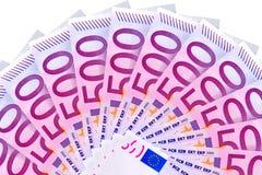 Euro. Five hundred euro backgraund, close up Royalty Free Stock Image