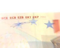 The euro. Part of the euro banknote Stock Photos