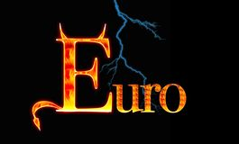 Euro. Illustration with a Demon euro Stock Image