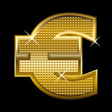 Euro. Illustration of euro symbol on black background Royalty Free Illustration