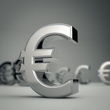 Euro. 3D Render of an euro currency with depth of field effect Stock Photos