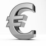 Euro. 3D Render of an euro currency  on white background Royalty Free Stock Photos