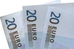 EURO 20 Fotografía de archivo libre de regalías