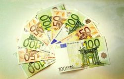 Euro Fotografia Stock Libera da Diritti