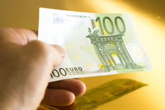 euro 100 Fotografia Stock