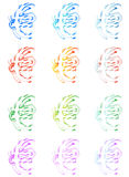 Euro. Illustration of euro, abstract, colorfull Stock Image