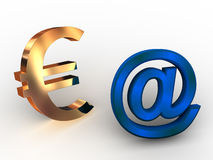 Euro-. ilustração stock