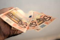 Euro 50 fotografía de archivo