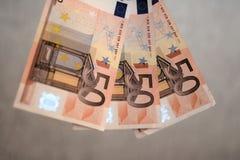 euro 50 Arkivfoton