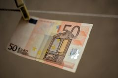 Euro 50 foto de archivo libre de regalías