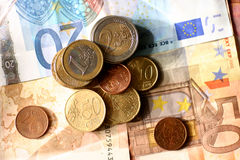 Euro. Paper money and coins