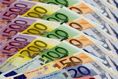 Euro. (money, pe, background, finance Royalty Free Stock Photos