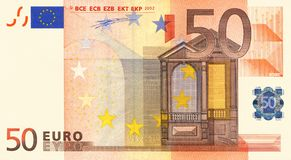 Euro 50 Fotografia Stock
