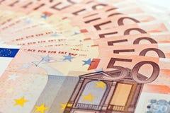 euro 50 banknotów Fotografia Royalty Free