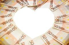 Euro 50 inramar Royaltyfri Fotografi