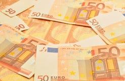 EURO 50 NOTERAR Arkivbild