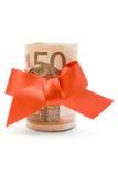euro 50 prezent Zdjęcia Royalty Free