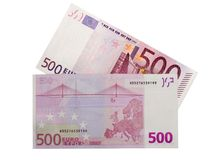 euro 500 Royaltyfri Fotografi