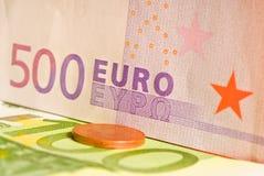 euro 500 Fotografering för Bildbyråer