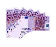 euro 500 Royaltyfria Foton