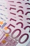 euro 500 banknotów Zdjęcie Royalty Free