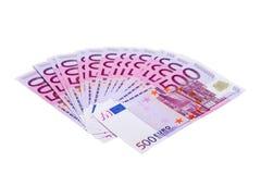 euro 500 banknotów Zdjęcie Stock